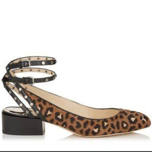 ❤️NWT❤️Jimmy Choo Leopard Print Daniela 30